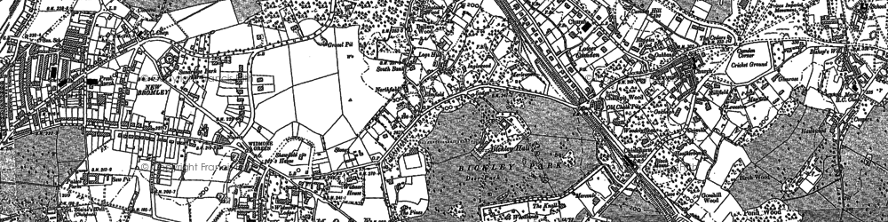Old map of Bickley in 1895