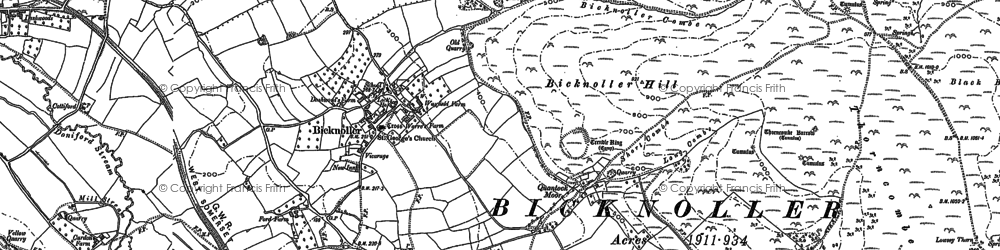 Old map of Bicknoller in 1886