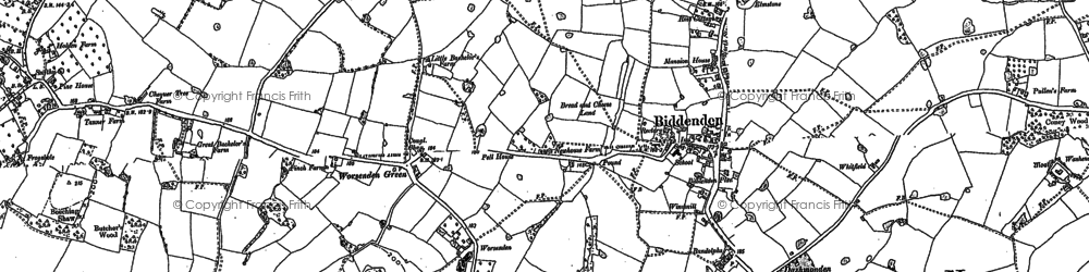 Old map of Bargate in 1896