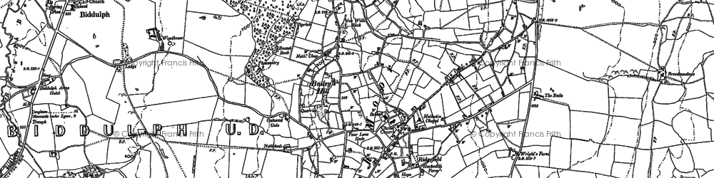 Old map of Woodhouse in 1878