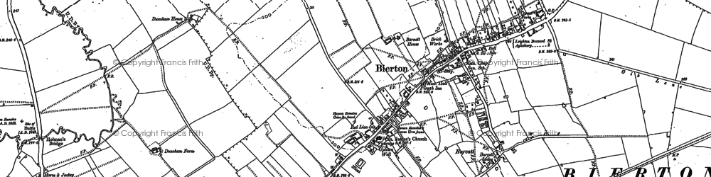 Old map of Burcott in 1899