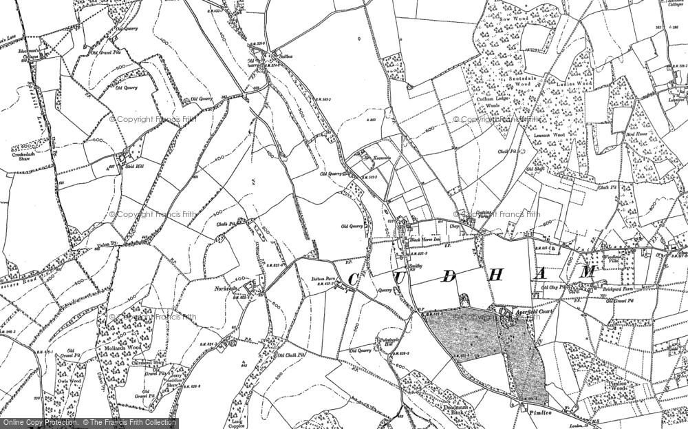 Old Map of Biggin Hill, 1908 in 1908