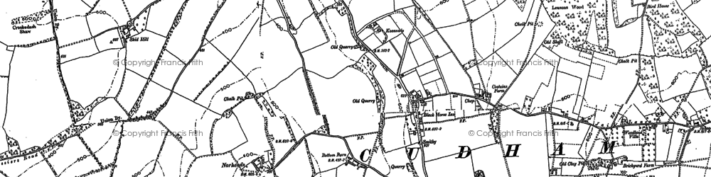 Old map of Biggin Hill in 1908