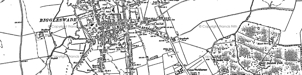 Old map of Biggleswade in 1900