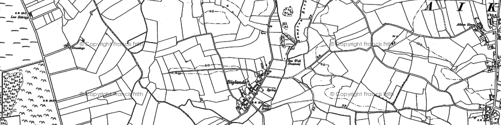 Old map of Westfield Ho in 1899