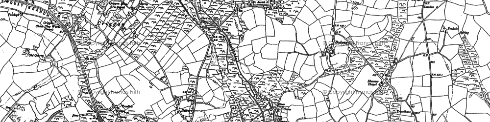 Old map of Bilberry in 1881