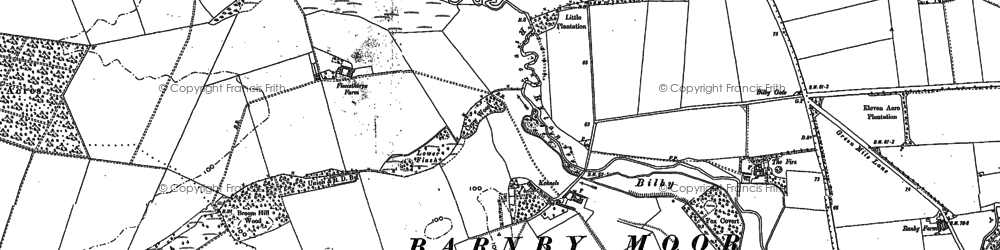 Old map of Ash Holt in 1885