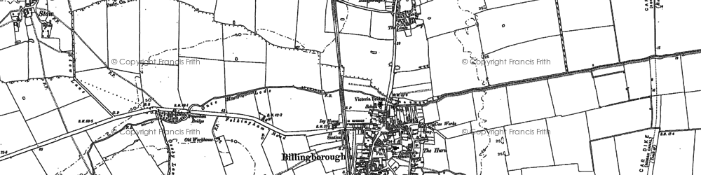 Old map of Billingborough in 1887