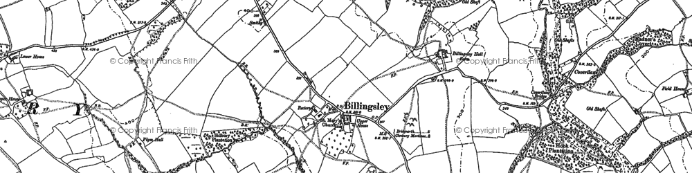 Old map of Woodhill in 1882
