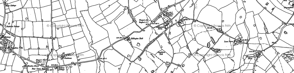 Old map of Willowmore Hill in 1880