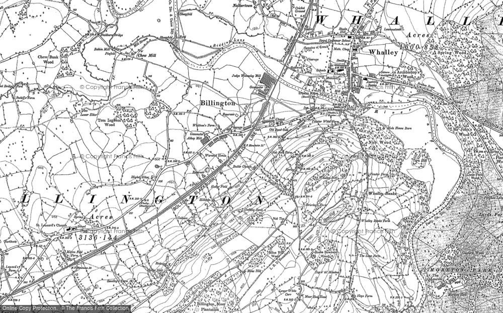 Old Map of Billington, 1892 in 1892