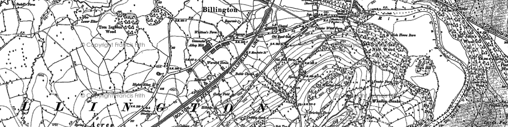 Old map of Billington in 1892