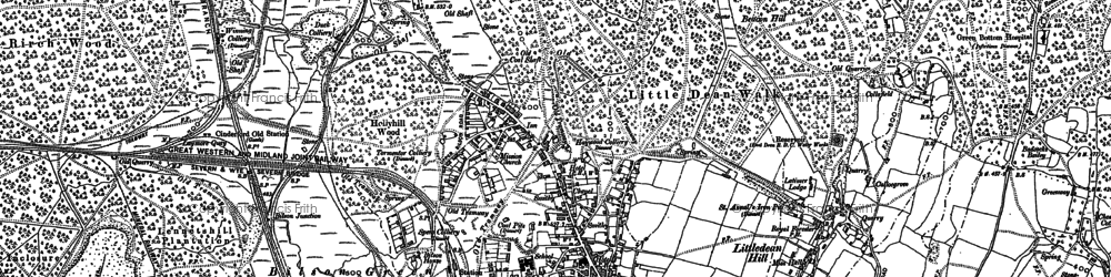 Old map of Collafield in 1901