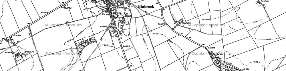 Old map of Binbrook in 1886