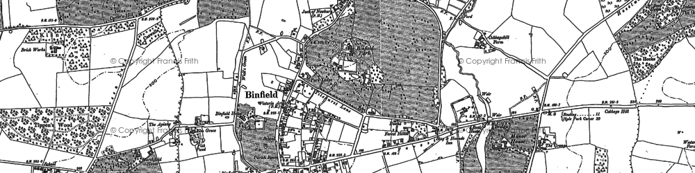 Old map of Binfield in 1898