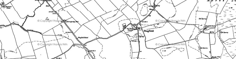 Old map of Todridge Fell in 1895