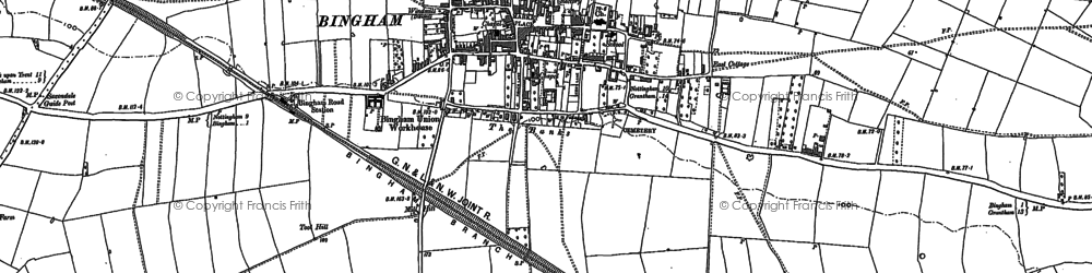 Old map of Toot Hill in 1883