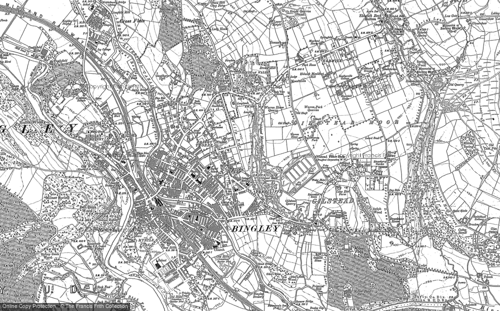 Old Map of Bingley, 1848 - 1891
