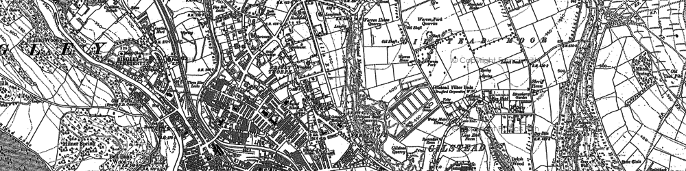 Old map of Bingley in 1848