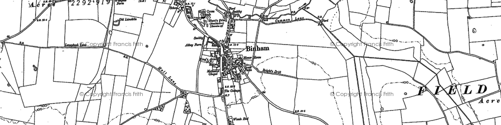 Old map of Westgate in 1886
