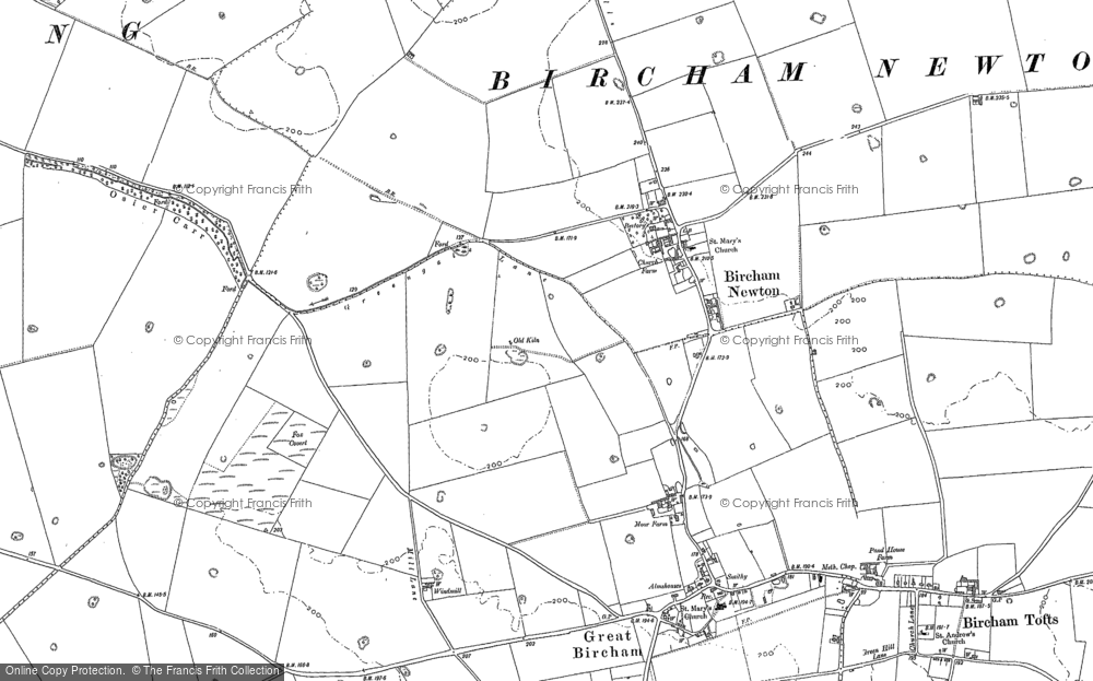 Old Maps of Bircham Newton Francis Frith