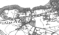 Old Map of Birchington, 1905