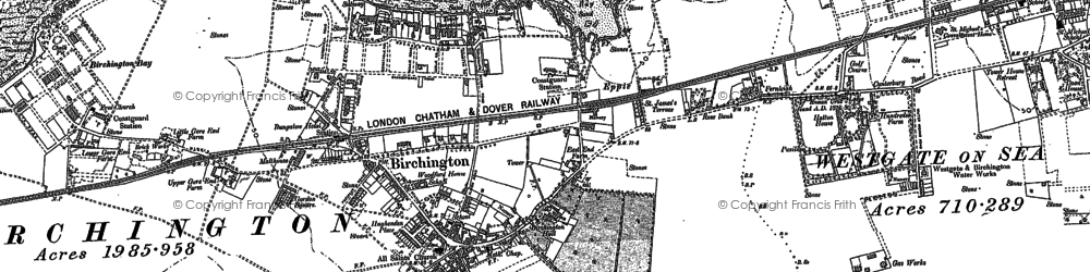 Old map of Birchington in 1905