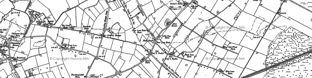 Old map of Oakwood in 1894