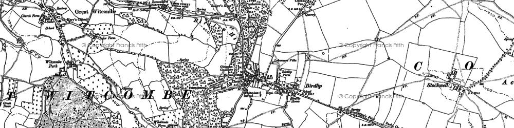 Old map of Birdlip in 1883