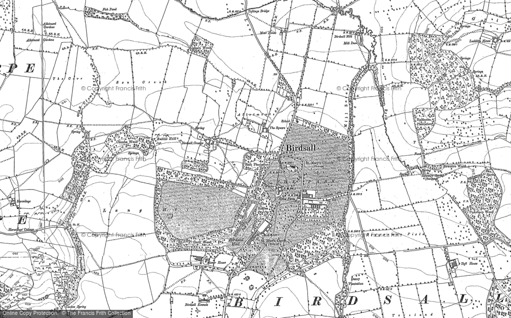 Old Map of Historic Map covering Leys Wood in 1891