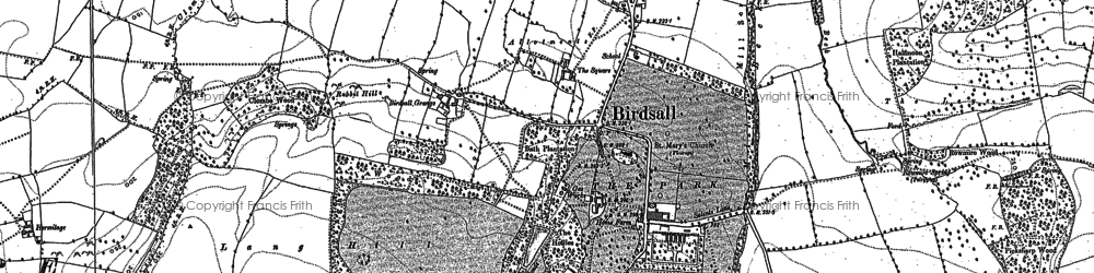 Old map of Langhill Wood in 1891