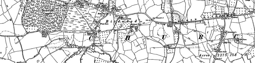 Old map of Birdwood in 1879