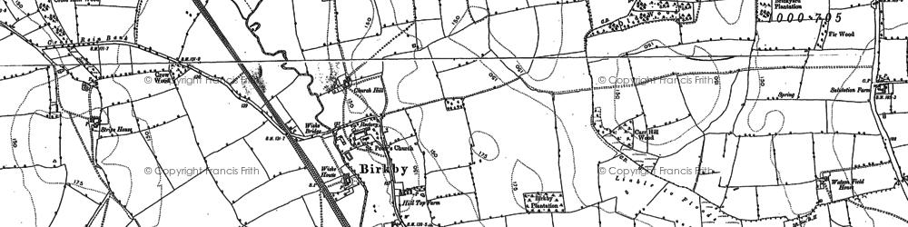 Old map of Wiske Ho in 1891