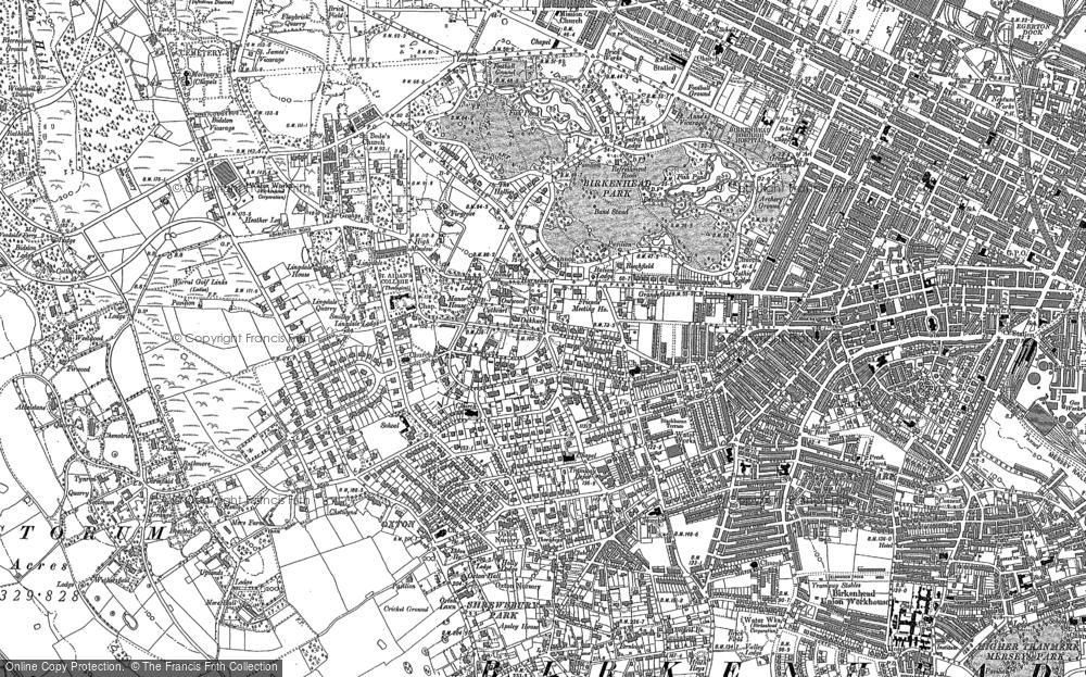Map of Birkenhead, 1909