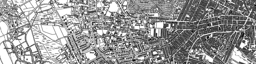 Old map of Birkenhead in 1909
