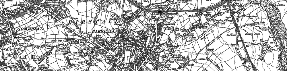 Old map of Birstall in 1882