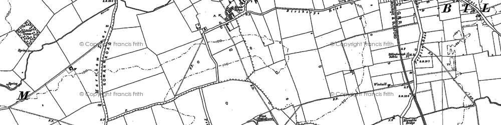 Old map of Birthorpe in 1887