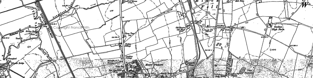 Old map of Birtley in 1895