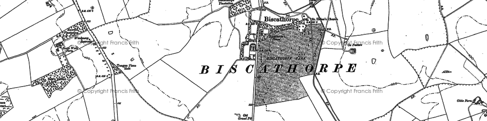 Old map of Biscathorpe in 1886