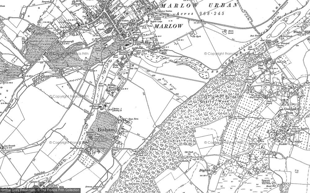 Map of Bisham, 1910