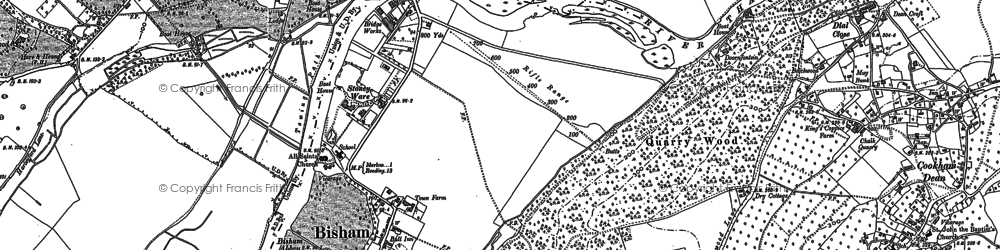 Old map of Bisham in 1910