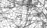 Old Map of Bishop Auckland, 1896