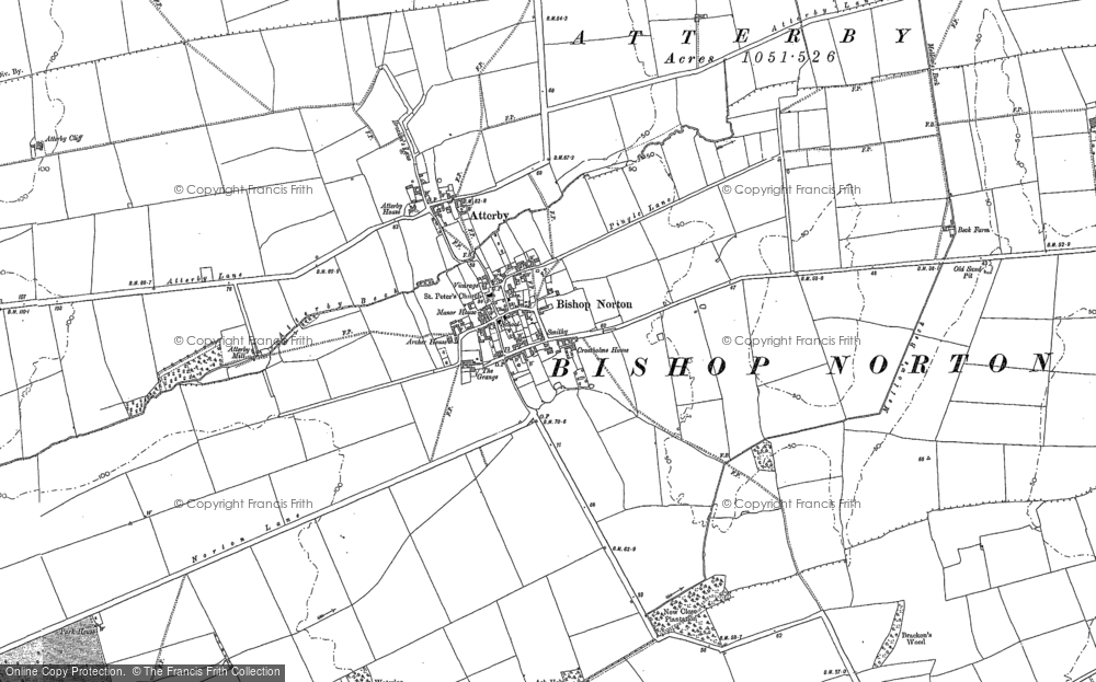 Old Map of Bishop Norton, 1881 - 1885 in 1881