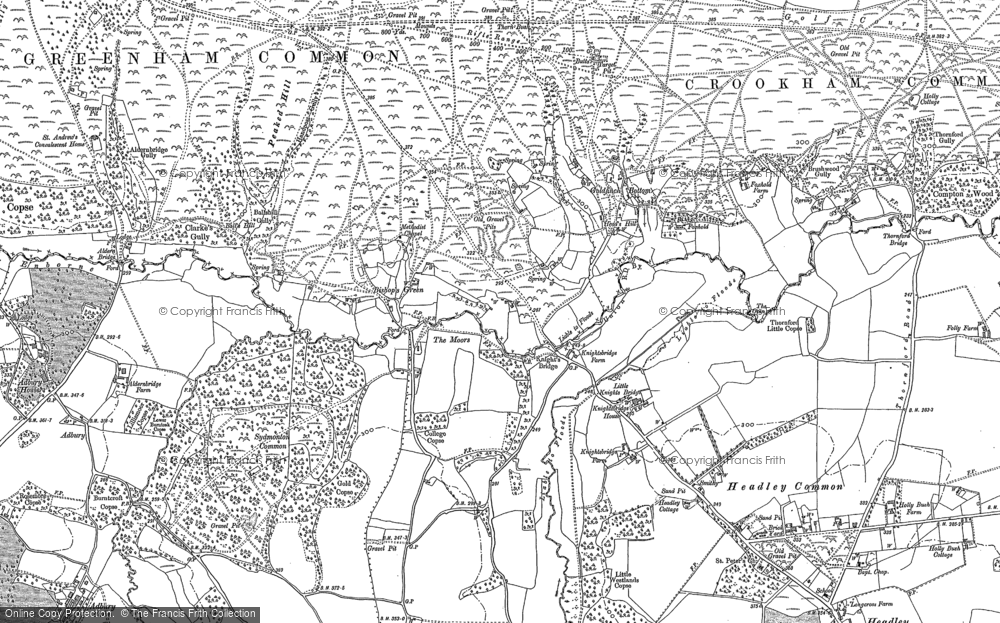 Old Map of Historic Map covering Aldern Bridge Ho in 1909