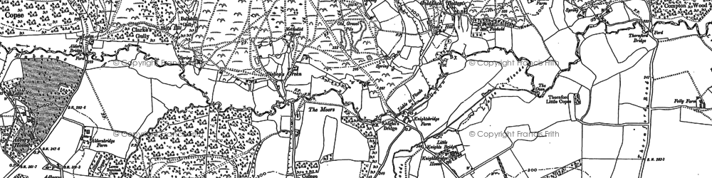Old map of Aldern Bridge Ho in 1909