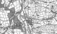 Old Map of Bishop's Tawton, 1887