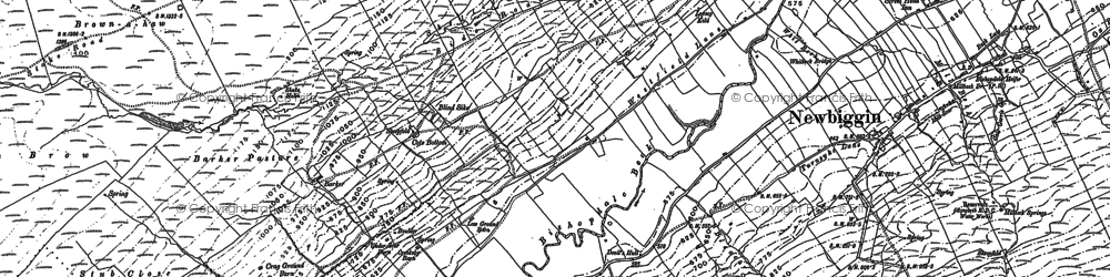 Old map of Langrigg in 1907