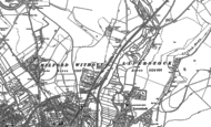 Old Map of Bishopdown, 1900