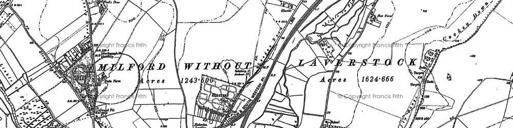 Old map of Bishopdown in 1900
