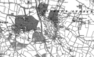 Old Map of Bishops Lydeard, 1887